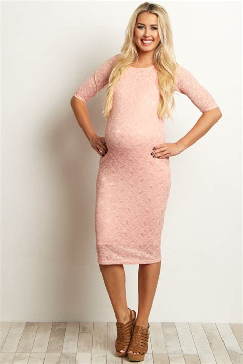 Pink Lace Summer S M L Dress blue lace maternity dress