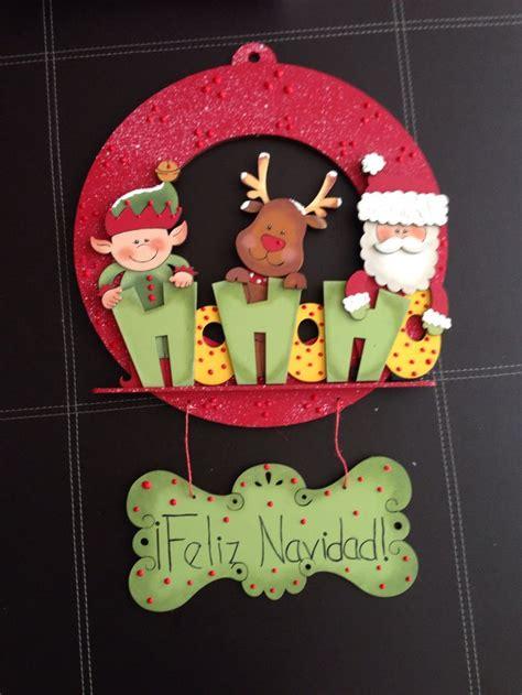 coronas navideas de fieltro corona navide 241 a de madera 600 00 navidad pinterest