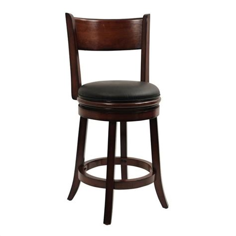 Swivel Counter Stools by 24 Quot Swivel Counter Stool In Chestnut 43124