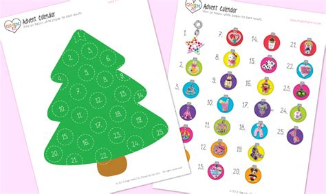 printable christmas tree countdown free christmas tree calendar countdown calendar template