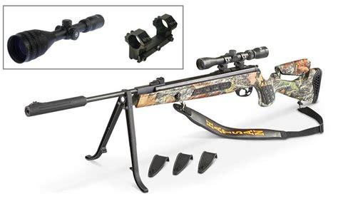 Popular Air Rifles hatsan model 125 camo sniper 25 caliber air rifle combo w