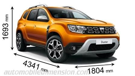 dacia duster 2018 dimensions, boot space and interior