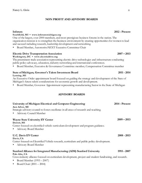 Baruch College Resume Sle Board Of Director Resumes Template Board Of Director Resumes Board Member Resume Sles