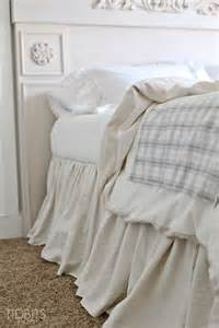Master Bedroom Decorating Ideas diy gathered bed skirt from a drop cloth tidbits