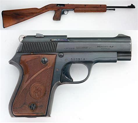 Pistol L unique model l semiauto pistol carbine combo gun 22 lr