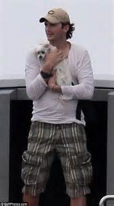 Does Demi A Tight Hold On Ashton by Ashton Kutcher Cuddles Up To A Canine On In