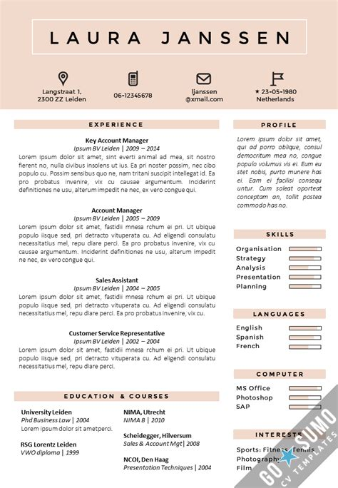 Cv Template by Resume Format 8 Best Cv Format Word Document