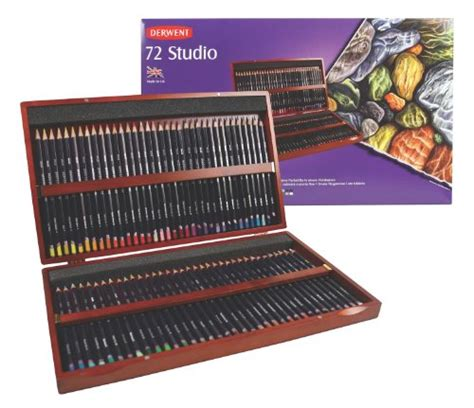 Derwent Colorsoft Coloured Pencil 36 Warna derwent colored pencils 72 studio 3 4mm wooden box