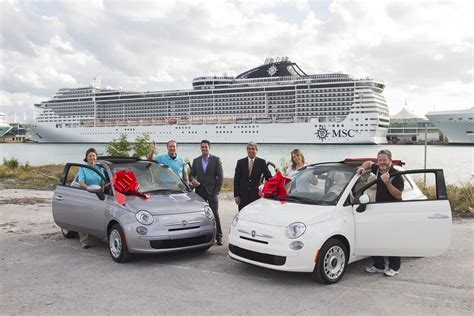 Fiat Sweepstakes - msc awards fiats to travel agent and guest cruise industry news cruise news