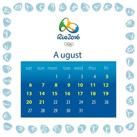 kalender design wettbewerb rio 2016 kalender design download der kostenlosen vektor