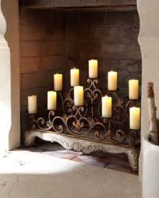 orante fireplace candelabra traditional candles and
