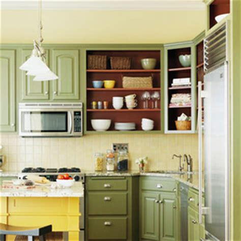 open shelving on wall instead of uppers