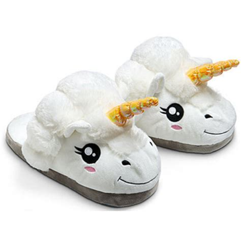 cute house shoes winter plush unicorn slippers cute funny men adult slippers women home shoes warm