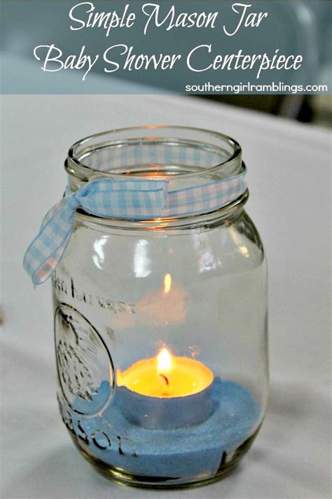 Themes Of Jar | simple mason jar baby shower centerpiece baby shower