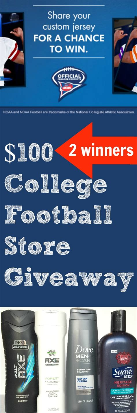 College Football Giveaways - 100 college football store giveaway 2 winners make your ncaa 174 custom jersey