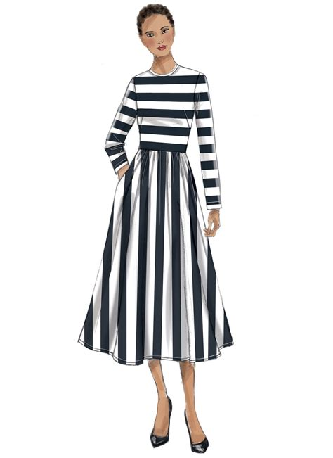 Dress Vogue vogue patterns 9197 misses neck gathered skirt dresses