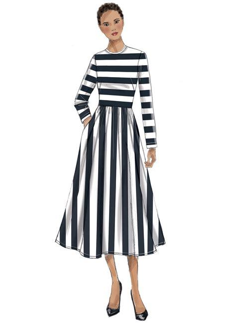 pattern review vogue dresses vogue patterns 9197 misses jewel neck gathered skirt dresses