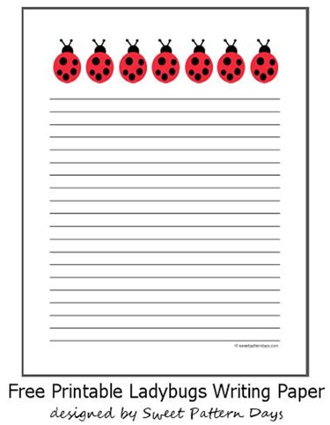 printable ladybug stationery free ladybugs writing paper stationery printables