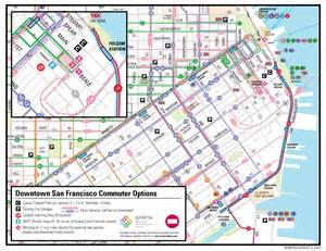 Bart Map San Francisco by Bart Strike Transportation Alternatives In San Francisco