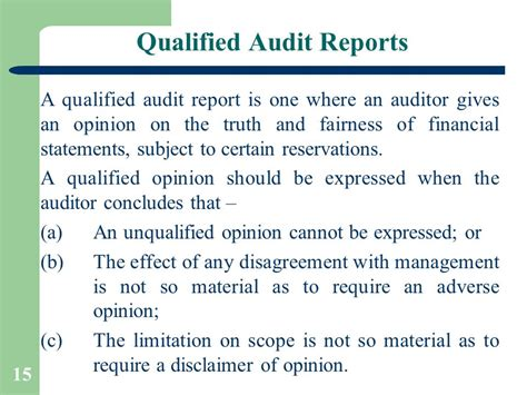 sle of qualified opinion audit report audit reports by ca pankaj garg ppt