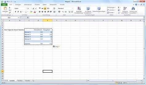 excell tabelle tabelle aus word in excel einfach einf 252