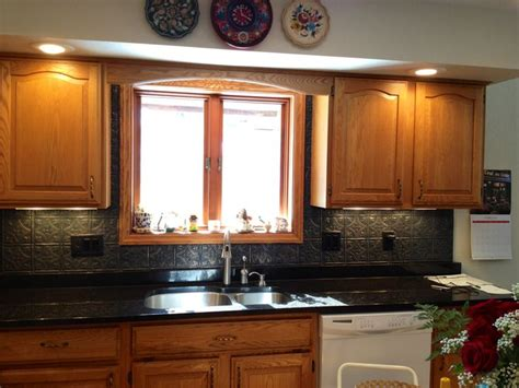 plastic kitchen backsplash painted a plastic tin ceiling backsplash it was bright