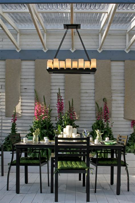 Dining Table Ls Chandeliers 25 Gorgeous Outdoor Chandeliers Hgtv S Decorating Design Hgtv