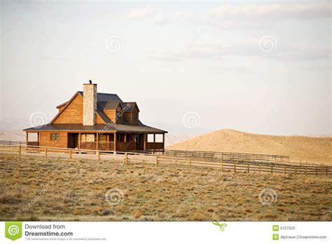 Texas Farm House Plans Casa De Rancho En Cercano Oeste Imagen De Archivo Imagen