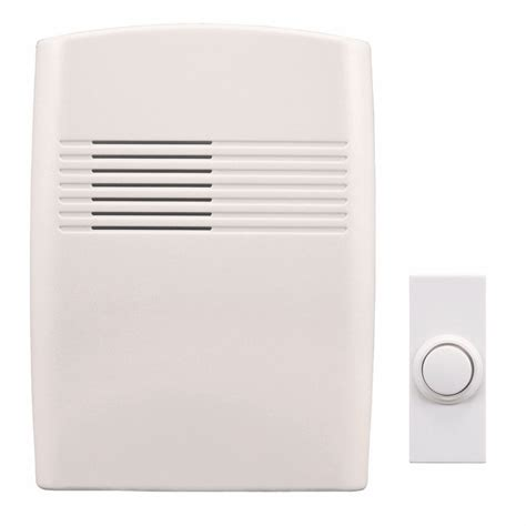 heath zenith wireless battery operated door chime kit with
