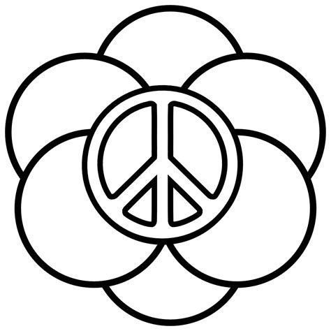 Peace Sign Templates Clipart Best Peace Sign Template
