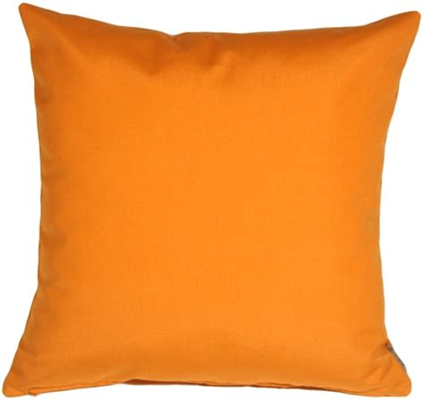 Orange Pillows by Sunbrella Tangerine Orange 20x20 Outdoor Pillow From