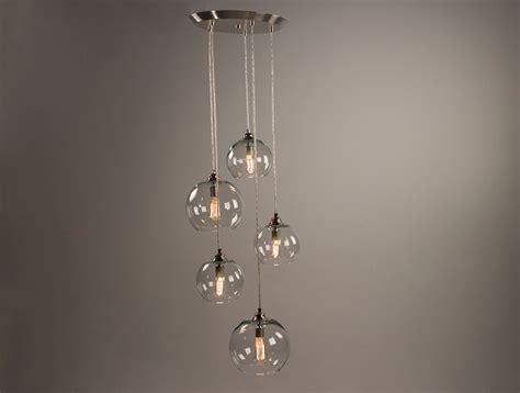 Canopy Light Fixture 5 Port Canopy Hanging Light Fixture Brushed Nickel Finish