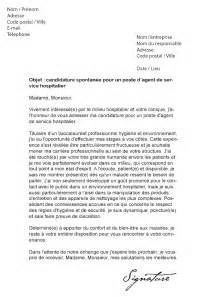 lettre de motivation de service hospitalier ash