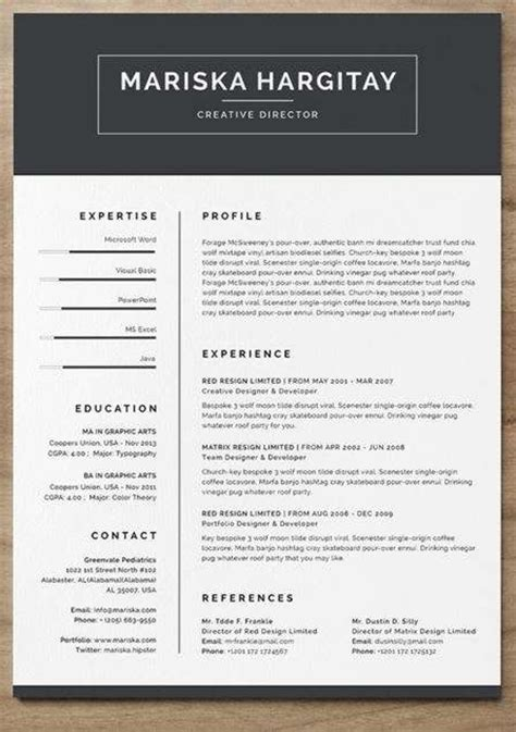 professional cv exles free 12 professional resume templates in word format xdesigns