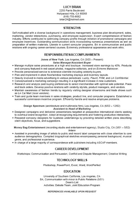 standard format of resume for internship standard resume free excel templates