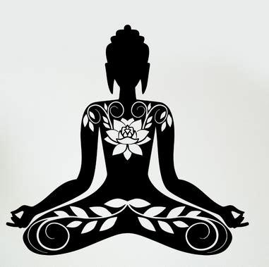 yoga zen clip art free aliexpress com buy buddha vinyl decal buddha meditation
