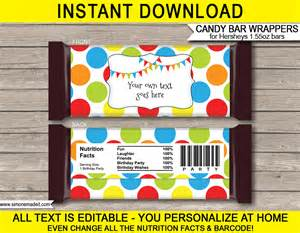 editable bar wrapper template polkadot hershey bar wrappers personalized bars