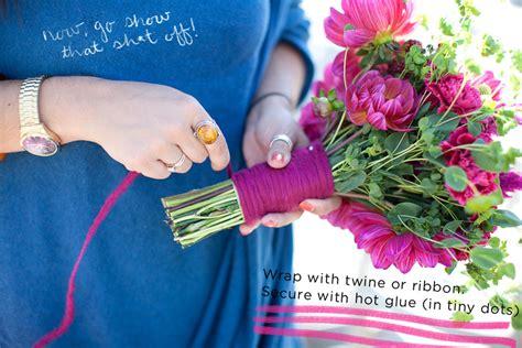 How To Make Handmade Flower Bouquet - how to make a diy flower mart wedding bouquet 13 a