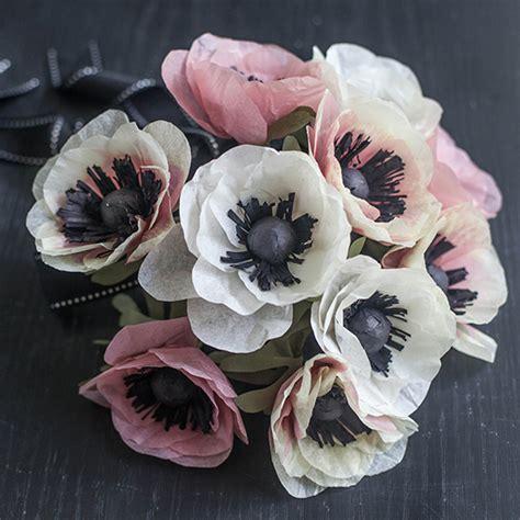 paper anemone flower tutorial diy tissue paper anemone tutorial lia griffith