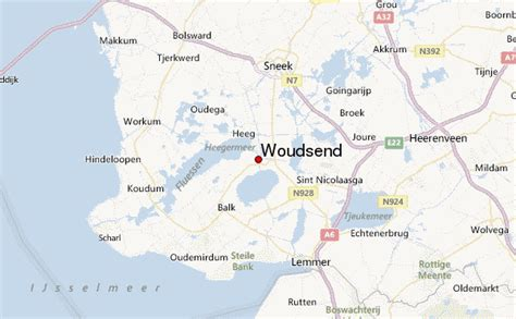 heerenveen netherlands map woudsend location guide