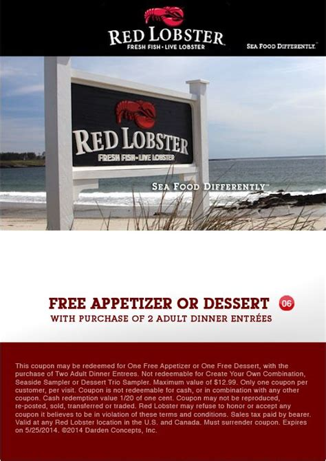 printable restaurant coupons red lobster 16 best red lobster coupons images on pinterest red