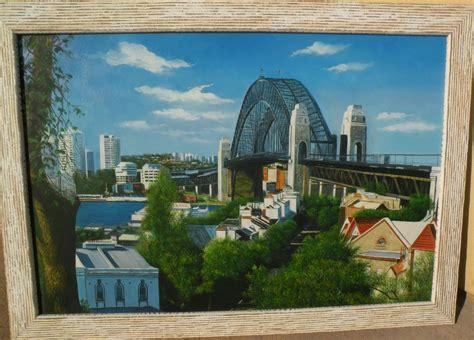sydney harbour bridge australian art original signed