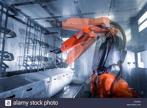 spray painting by robot exposure of robot spray painting automotive parts