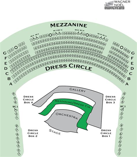 seating for seating map wagner no 235 l performing arts center