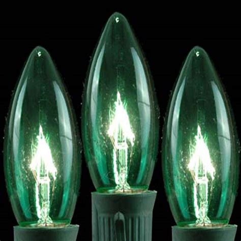 c9 green replacement christmas light bulbs pack of 25 14