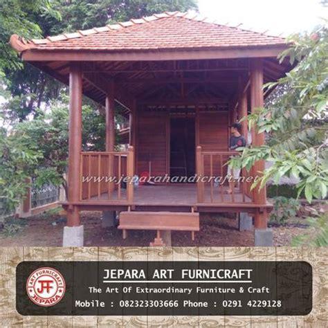 Gazebo Dengan Kayu Kelapa Gzb0002 diskon gazebo rumah minimalis kayu kelapa atap genteng