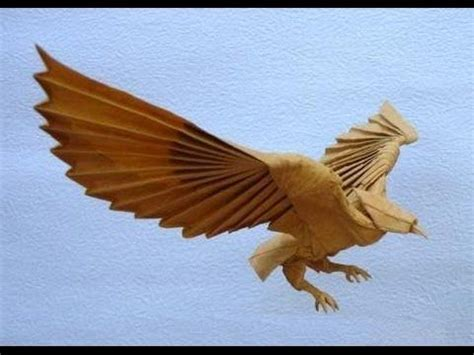 3d origami eagle tutorial origami 3 eagle3 5 chim ưng hoang trung thanh