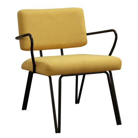 Yellow Accent Chair Palm Springs Yellow Upholstery Accent Chair