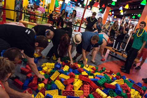 adult legos going hard at legoland on adult night vice