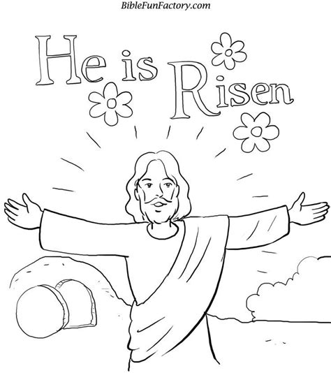 he is risen coloring page az coloring pages